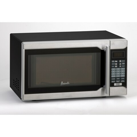 Avanti Stainless Steel and Black 0.7 cu.ft. Microwave