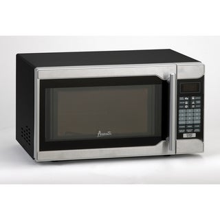 Avanti Stainless Steel and Black 0.7 cu.ft. Microwave