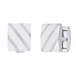 Titanium Men's Square-shaped Cuff Links