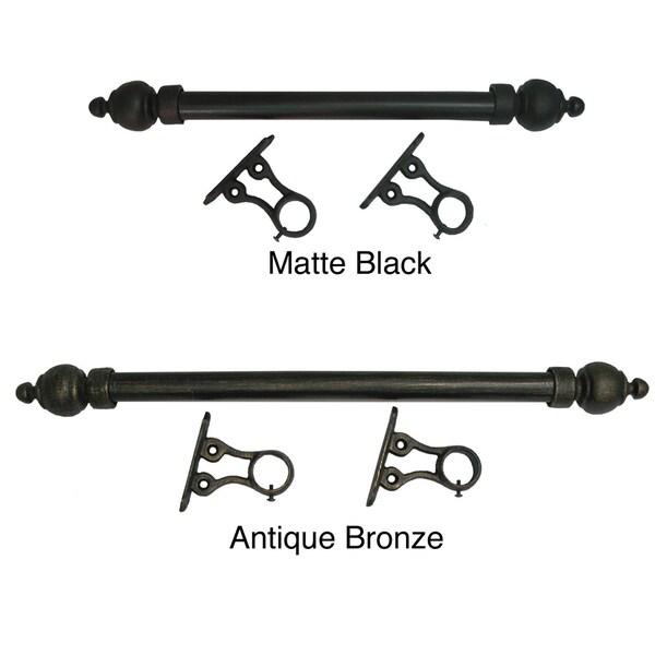 Simplicity 1-inch Smooth Metal 5-foot Rod Set