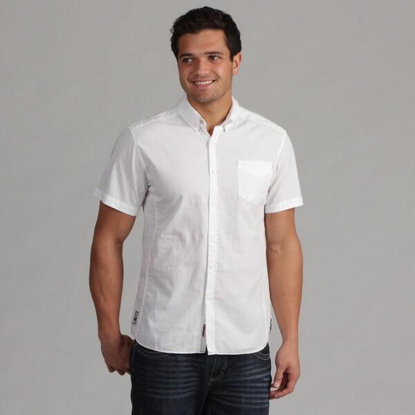 191 Unlimited Men's White Woven Shirt