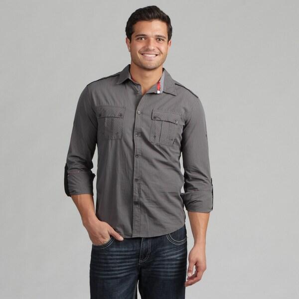 191 Unlimited Mens Grey Woven Shirt