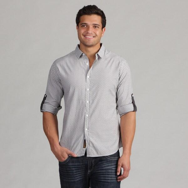 191 Unlimited Men's White Camper Sleeve Shirt