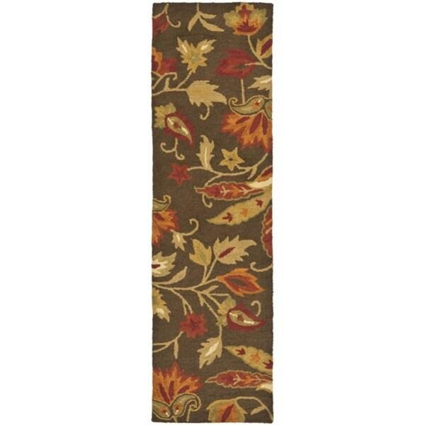 Safavieh Handmade Blossom Gardens Brown Wool Rug (2'3 x 14')