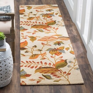 Safavieh Handmade Blossom Paradise Beige Wool Rug (2'3 x 11')