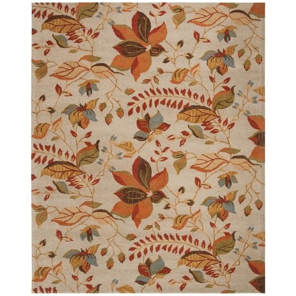 "Safavieh Handmade Blossom Paradise Beige Wool Rug - 8'9"" x 12'"