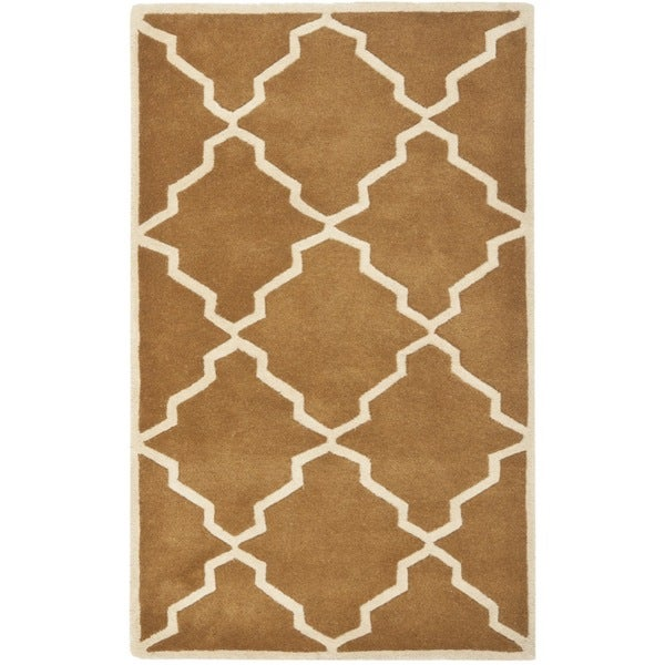 Safavieh Handmade Moroccan Chatham Brown Wool Rug (3' x 5')