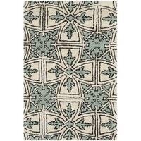 Safavieh Handmade Moroccan Chatham Majestic Light Blue/ Ivory Wool Rug - 2' x 3'
