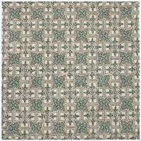 Safavieh Handmade Moroccan Chatham Majestic Light Blue/ Ivory Wool Rug - 7' x 7' Square