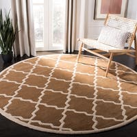 Safavieh Handmade Moroccan Chatham Brown Wool Rug (7' Round) - 7' x 7'
