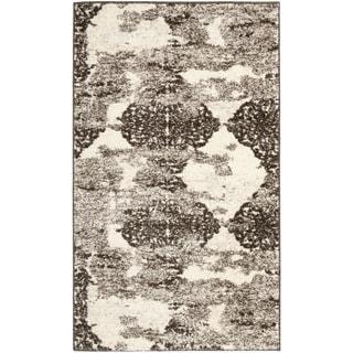 Safavieh Retro Modern Abstract Cream/ Brown Distressed Rug (2'6 x 4')