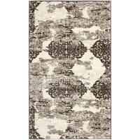 Safavieh Retro Modern Abstract Cream/ Brown Distressed Rug (2'6 x 4') - 2'6 x 4'