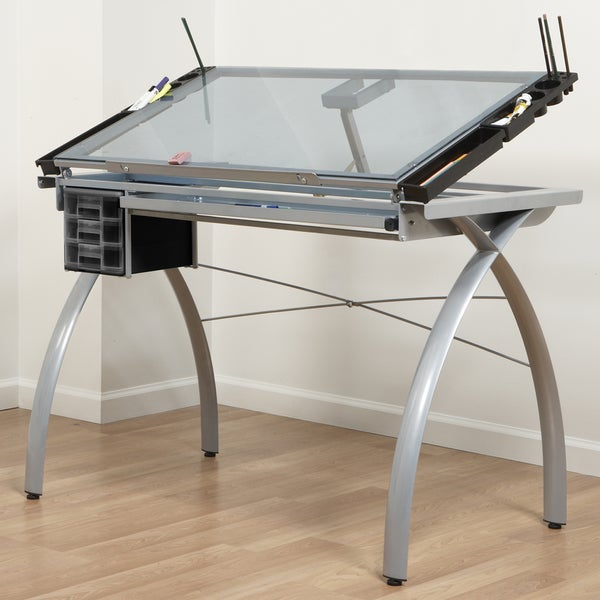 Offex Futura Craft Station (Silver/ Blue Glass)