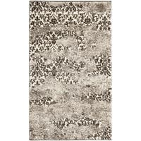 "Safavieh Retro Modern Abstract Beige/ Light Grey Distressed Rug (2'6"" x 4') - 2'6 x 4'"