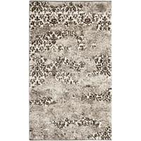 Safavieh Retro Modern Abstract Beige/ Light Grey Distressed Rug - 2'6 x 4'