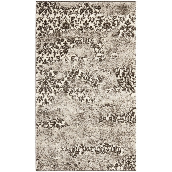 "Safavieh Retro Modern Abstract Beige/Light Gray Accent Rug (2'6"" x 4')"