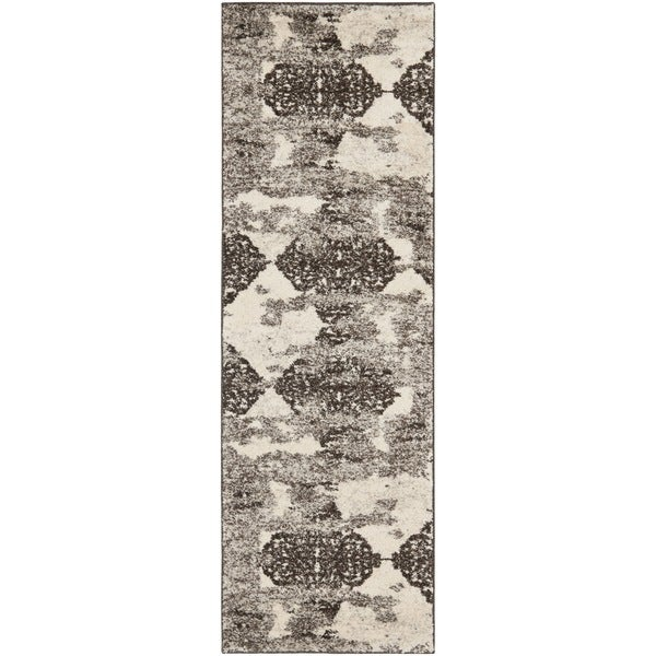 Safavieh Retro Modern Abstract Cream/ Brown Distressed Rug (2'3 x 7')