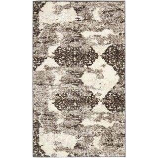 Safavieh Retro Modern Abstract Cream/ Brown Distressed Rug (3' x 5')