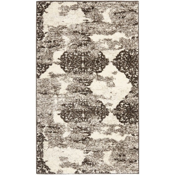 Safavieh Retro Modern Abstract Beige/ Light Grey Rug (3' x 5')