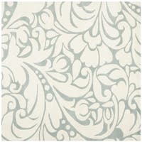 Safavieh Handmade New Zealand Wool Flow Ivory Rug - 6' x 6' Square