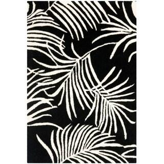 Safavieh Handmade New Zealand Wool Ferns Black Rug - 2' X 3'