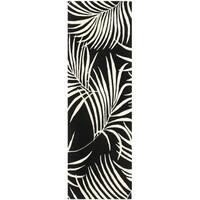 Safavieh Handmade New Zealand Wool Ferns Black Rug (2'6 x 8') - 2'6 x 8'