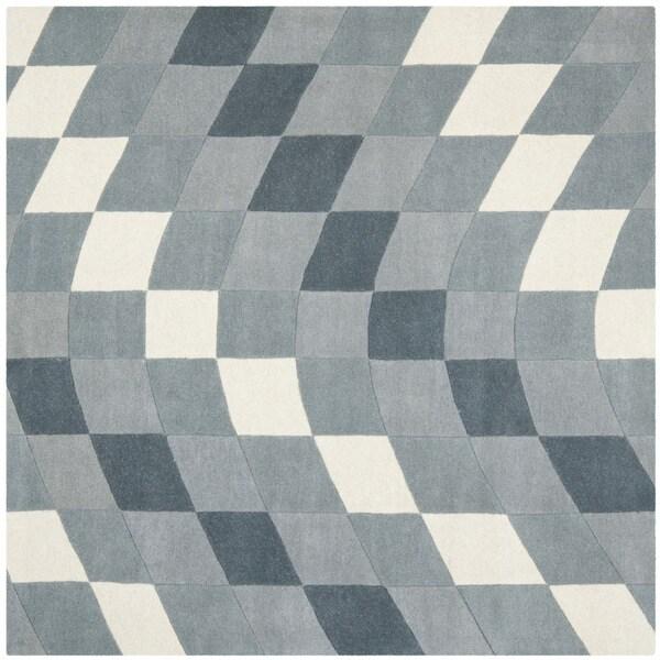 Safavieh Handmade Soho Matrix Modern Abstract Grey Wool Rug (6' x 6' Square)