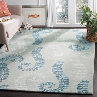 Safavieh Handmade Marrakesh Light Blue New Zealand Wool Rug