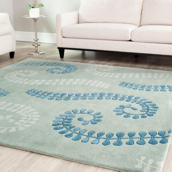 Safavieh Handmade Marrakesh Light Blue New Zealand Wool Rug
