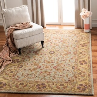 Safavieh Handmade Heritage Traditional Kerman Grey/ Gold Wool Rug (More options available)