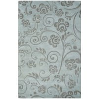 Safavieh Handmade Soho Scrolls Grey New Zealand Wool Rug