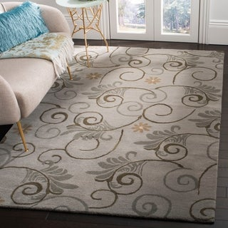 Safavieh Handmade Soho Garden Scrolls Grey New Zealand Wool Rug