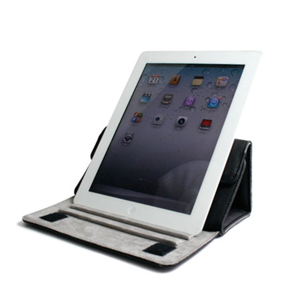 Kroo Leather Tablet Case With Kickstand of iPad 2/3/4 & 9 inch Tablets
