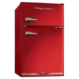 Nostalgia Electrics Red Retro Series 3.0-Cubic Foot Compact Refrigerator Freezer
