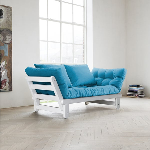 Fresh Beat Horizon Blue Futon Sofa Bed