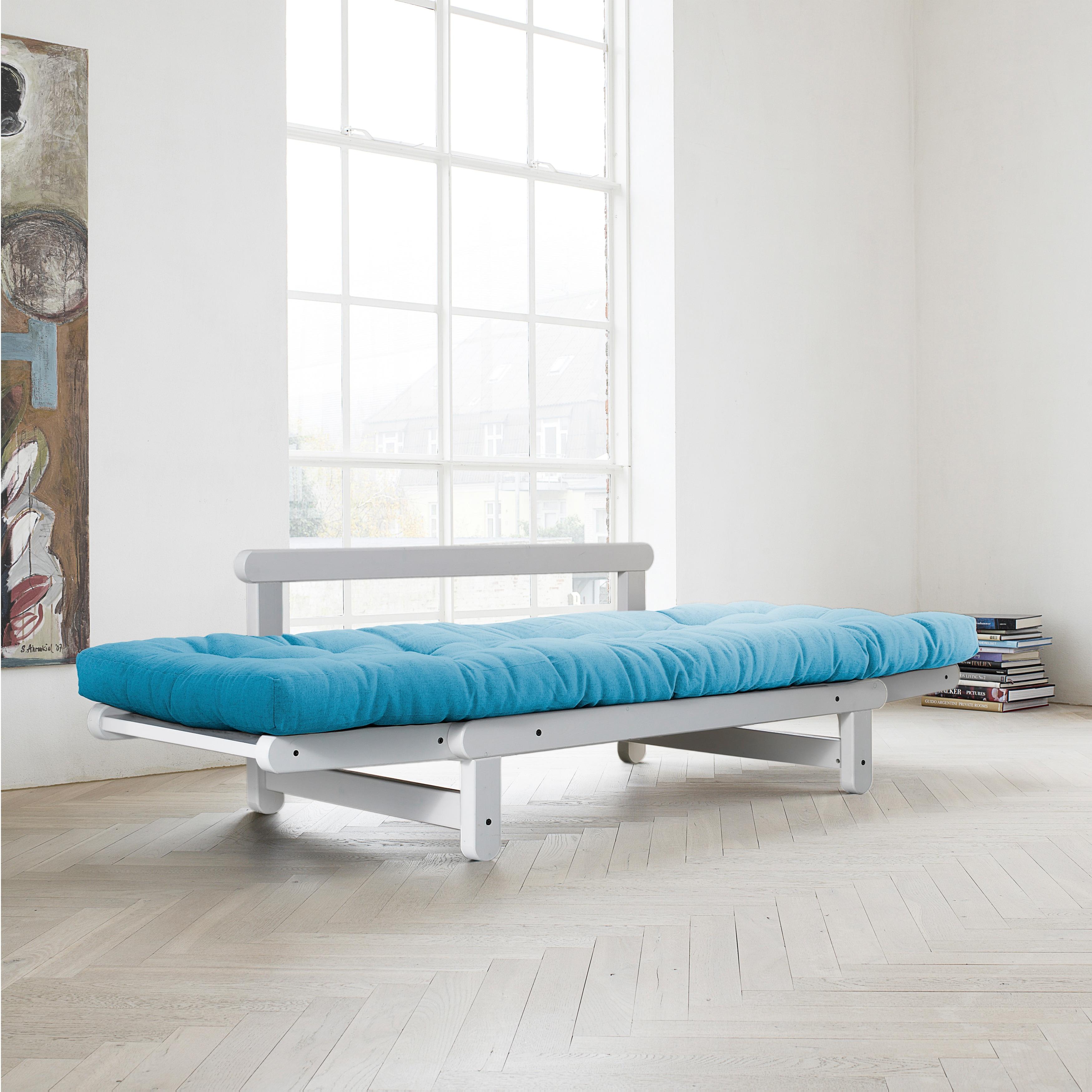 Fresh Beat Horizon Blue Futon Sofa Bed