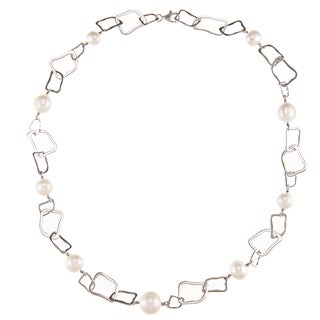 Kabella Sterling Silver Freshwater Pearl Short Irregular Shape Necklace