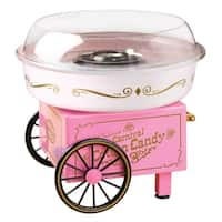 Nostalgia Vintage Collection Pink Hard and Sugar-free Candy Cotton Candy Maker