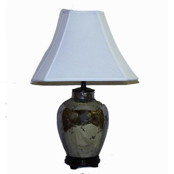 Crown Lighting 1-light Ceramic Textured Silver Table Lamp