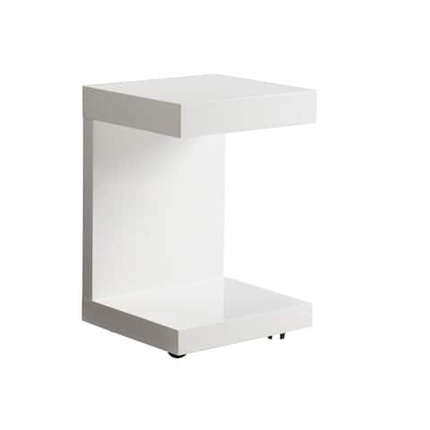 Sunpan 'Ikon' Bachelor Gloss White TV Table with Drawer