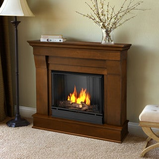 Real Flame Espresso Chateau 40.94 in. L x 11.81 in. D x 37.6 in. H Gel Fireplace