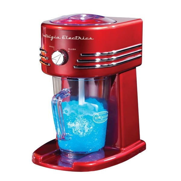 Nostalgia FBS400RETRORED Retro Series 32 oz. Frozen Beverage Station