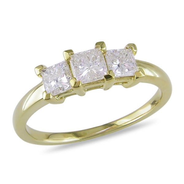 Miadora Signature Collection 14k Yellow Gold 1ct TDW Diamond Ring (G-H, I1-I2)