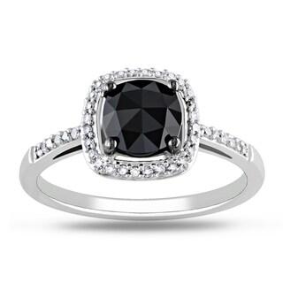 Miadora 14k White Gold 1 1/8ct TDW Black Diamond Ring (G-H, I1-I2)