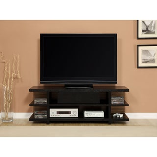 Altra 60-inch Black Ash TV Stand with Reversible Back Panel