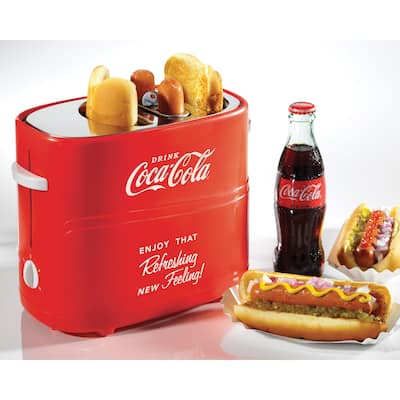 Nostalgia HDT600COKE Coca-Cola Pop-up Hot Dog Toaster