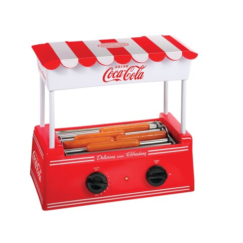 Nostalgia HDR565COKE Coca-Cola®Hot Dog Roller and Bun Warmer