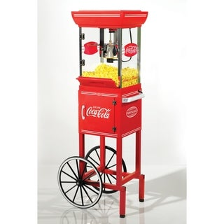 Nostalgia Electrics Coca-Cola Series 48-inch Old Fashioned Movie Time Popcorn Cart