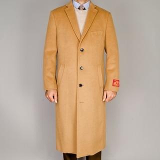Camel Wool/Cashmere Blend Topcoat