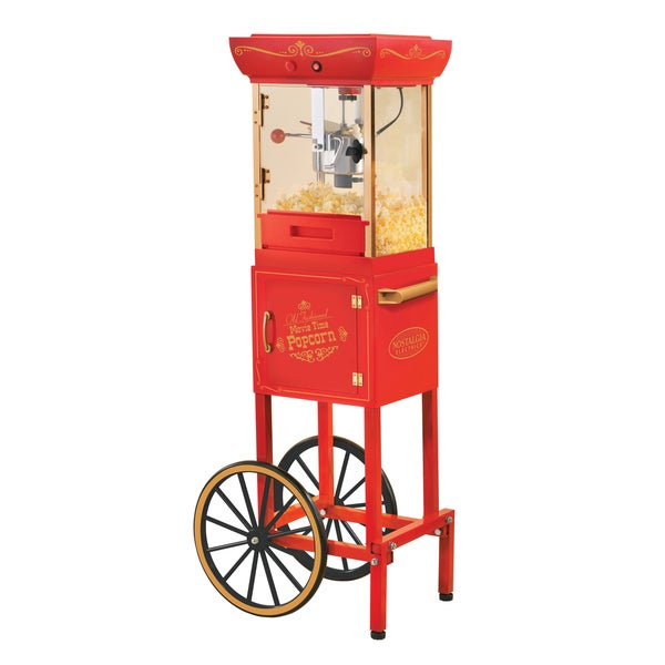 Nostalgia Electrics Vintage Collection 48-inch Old Fashioned Movie Time Popcorn Cart